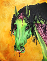 Zombie Horse: Happy Halloween by PMSingTiger