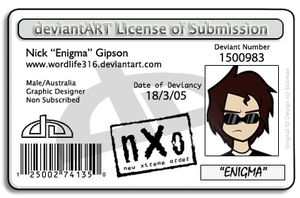 My DeviantArt Licence by WordLife316