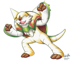 Chesnaught in copic markers by Chibi-Pika