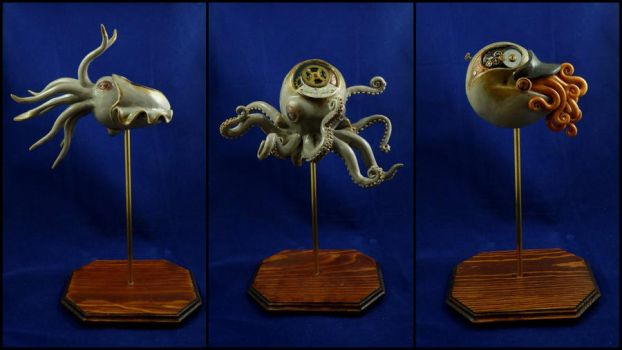 Steampunk Cephalopod Sculpture by Noadi