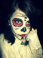 Day Of The Dead Insipred Make Up by kathXD123