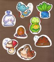 Pokemon Stickers 01 by Kikulina