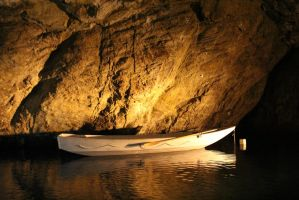Boat in Cave - Stock by EloieeStock