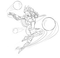 High Tech Syndra sketch 2 by danps