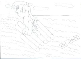 NATG - Day 14: Derpy is lost in the ocean by CMC--Scootaloo