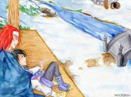 Day 14 - Winter in Mizuho by Nocturea