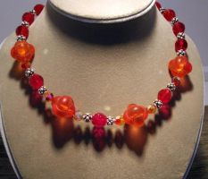 red sparkly necklace by merpagigglesnort