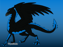 Blue as a Gryphon/Dragon by Guardianowlbubo