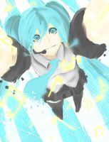 Miku Speed Painting by Yoshishi-chan