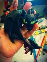 Toothless Sculpt- painted by Lustuad