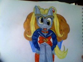 Derpy as Sailor Moon by mistresscarrie