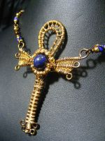 Isis Wings Ankh by BacktoEarthCreations