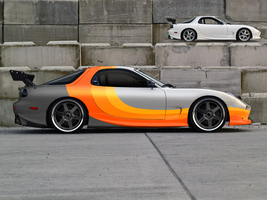 Fastworks Orange Rx7 by fastworks