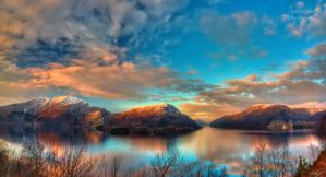 Winter sunset Panorama by PhotoForever88