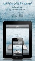 Happy Winter Season - Winter Book - Wallpaper Pack by wellgraphic