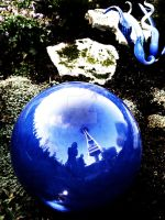 Space Needle and Me in a Globe by Sing-Down-The-Moon