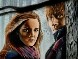 Ron and Hermione by Kristelok