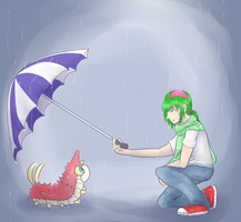 You Shouldn't Be Out in the Rain Lil' Guy... by KitsPokePeople