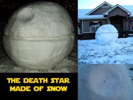 Death star of snow by JediMichael