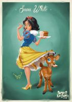 Snow White Pin Up Girl by pangketepang