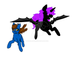 Random Valentines Gift: Enderwings and Battony by StormClawPonyRises