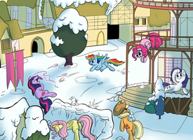 Snowball Fight by RustyDooks