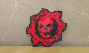 Gears of War - Perler by RavenTezea