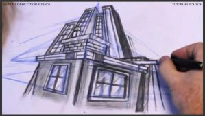 Learn how to draw city buildings 035 by drawingcourse