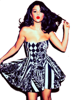 Selena Gomez Glamour Magazine PNG HQ by ByMemiiEditions