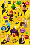 Persona 4 sticker sheet by ZulayaWolf