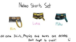 MMD nakao shorts set by Vocaloid98