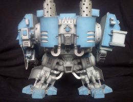 Warhammer 40K Space Marine Dreadnought Mk V - back by kotlesiu