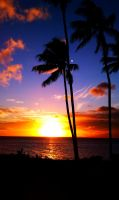 AAA; Sunset @ Kahana by LesA1Savage