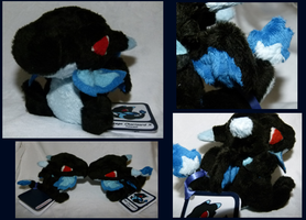 FOR SALE Mega Charizard X - Pokedoll Style by MegasArtsAndCrafts
