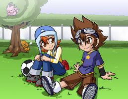 Sora and Tai by rongs1234