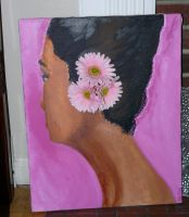 Lady and Daisies by BaronessaGinevra