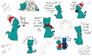 Christmas Doodles 2013 by Joava