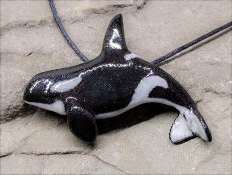 Orca Handmade Pendant by NatureSculptures