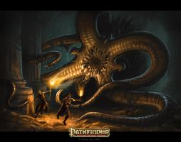 Bestiary Opener for Pathfinder Strange Aeons by CrystalSully