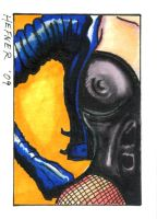 Black Canary Sketch Card by HalHefnerART