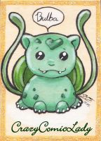 Chibi Bulbasaur ATC for Verly by Reality-Bunny