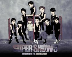 SUJU super show commission by burnedbacon