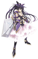 Date A Live Yatogami Tohka Png by bloomsama