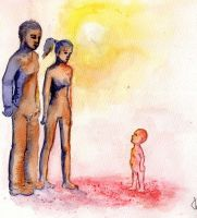 Mother, father and their aborted child by TatianaToutheou