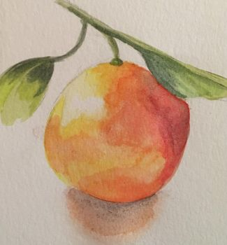 Orange Watercolor by neagimadoko