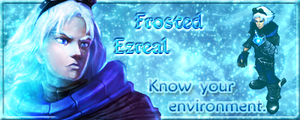 Frosted Ezreal siggy by Merieth