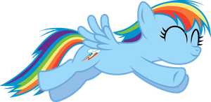 Rainbow Dash Filly Jumping by imageconstructor
