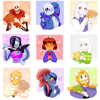 Undertale Rose Collection by CubedCake