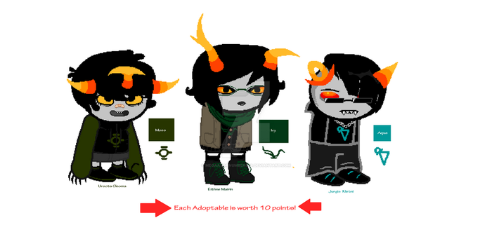Midblood Fantroll ADOPTABLES (2/3 OPEN!) by MegaAzornumbers09