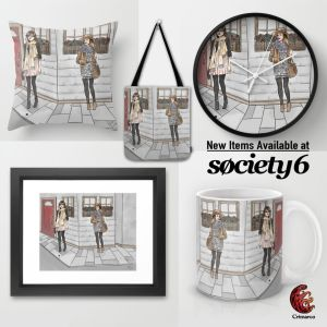Promotion Society6 fashion Illustration
